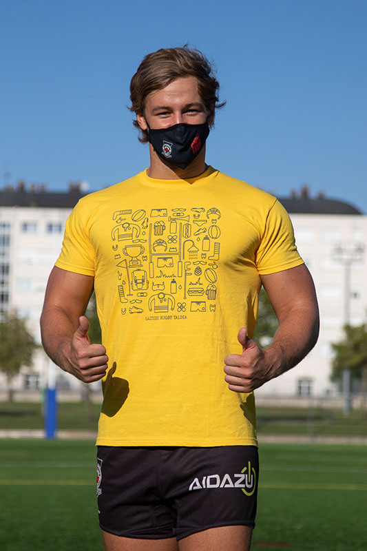 Camiseta dibujos amarilla Image